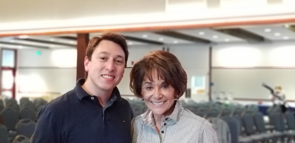 Lucas Ramirez with Congresswoman Anna Eshoo