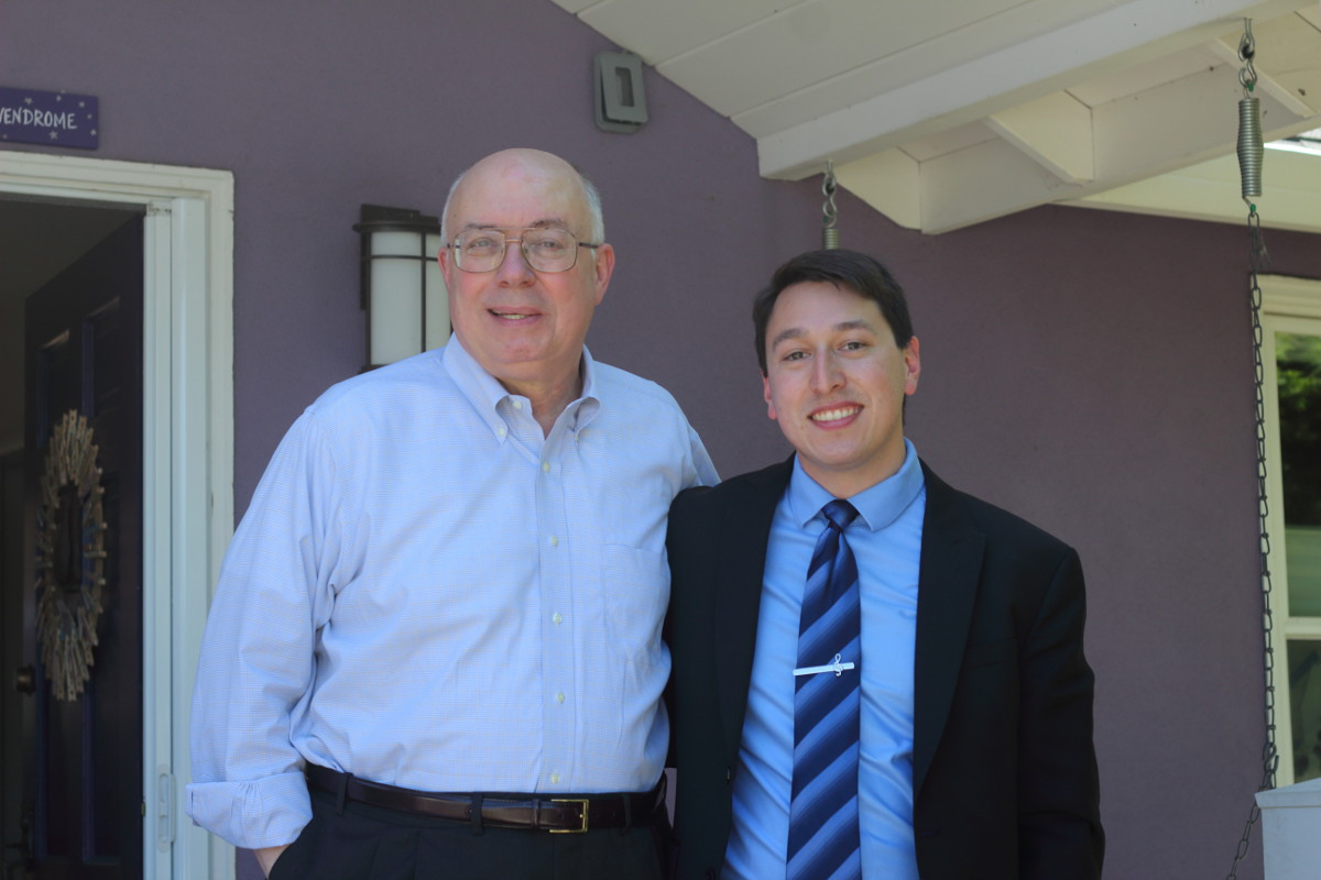 Lucas Ramirez with Supervisor Joe Simitian