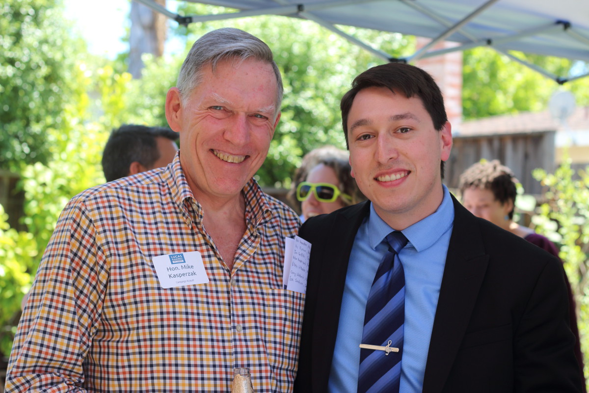 Lucas Ramirez with Former Mayor Mike Kasperzak